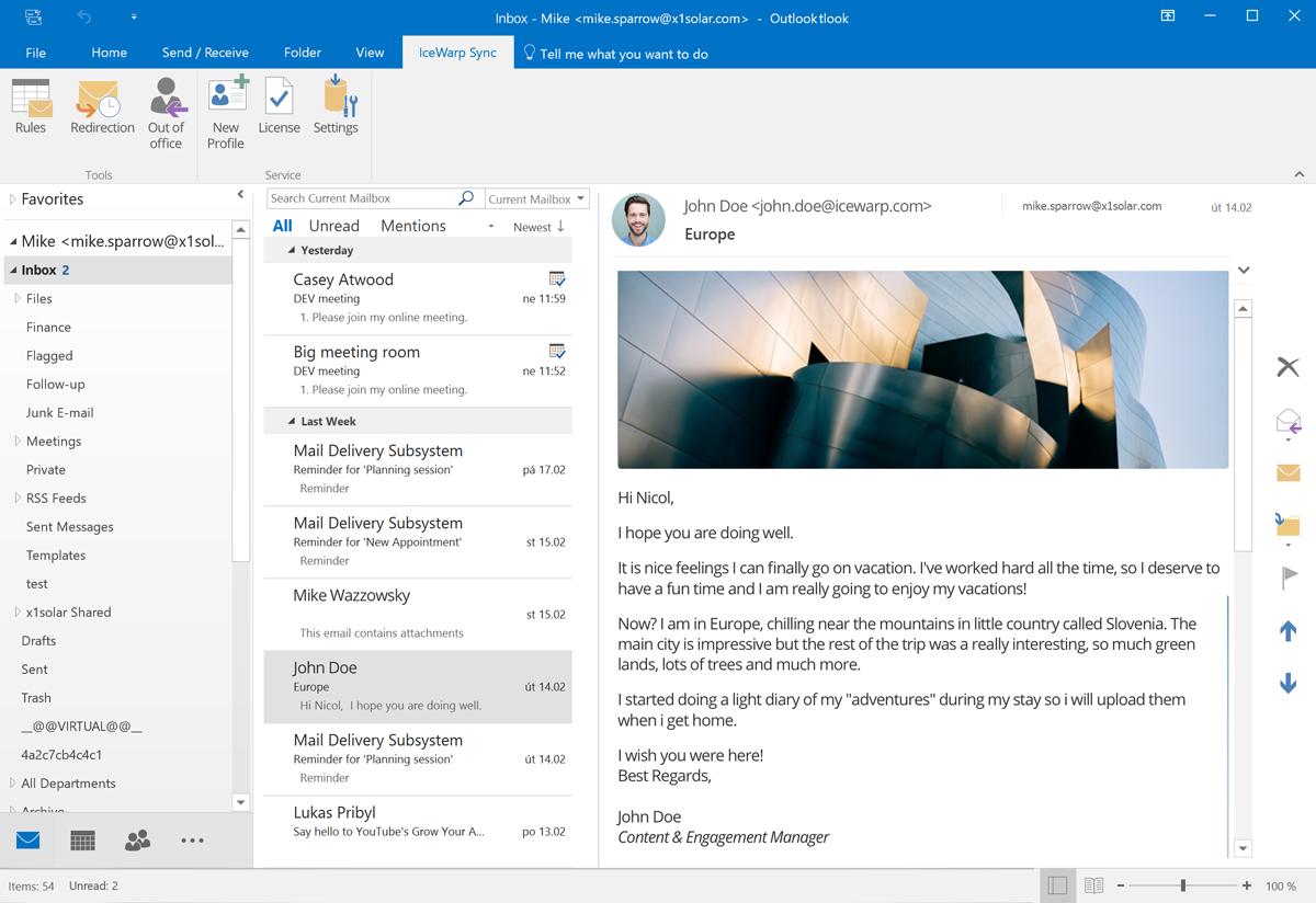 Ako sa vám pripojiť svoj e-mail do programu Outlook