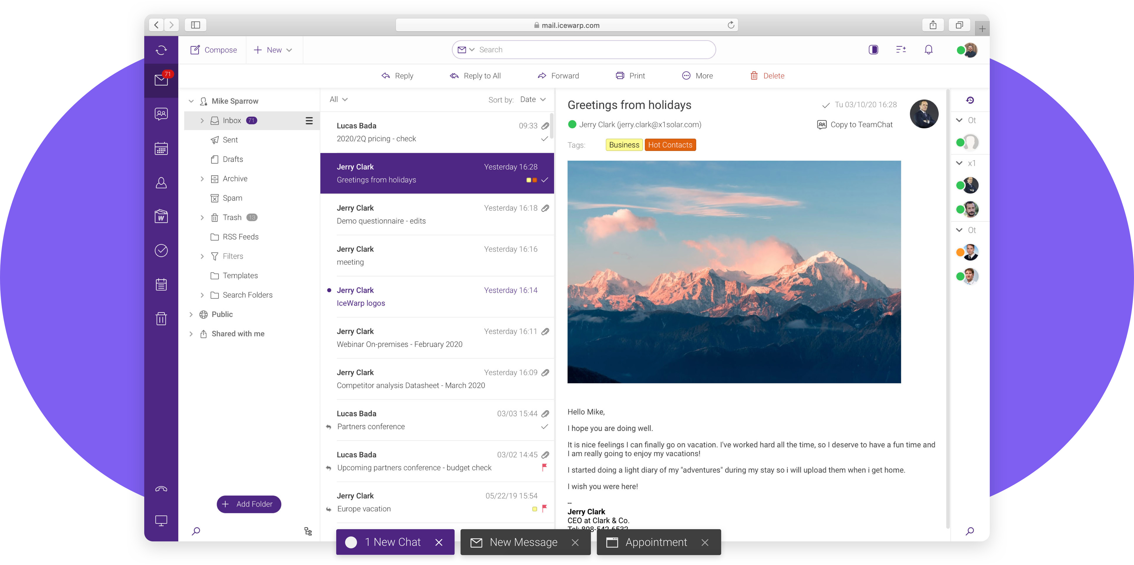 Email & multitask