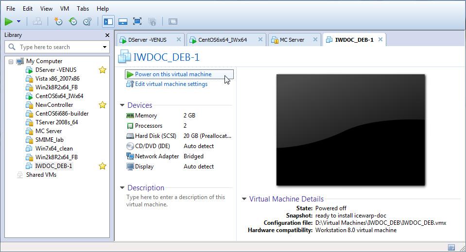 Uruchom maszynę wirtualną (VM)